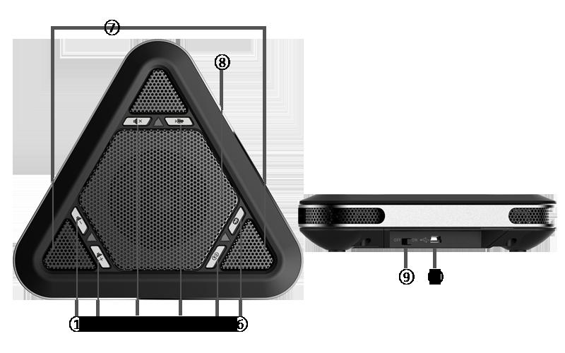 M5000-B table speakerphone